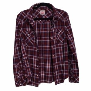 Levi's Classic Fit Pearl Snap Flannel Shirt
